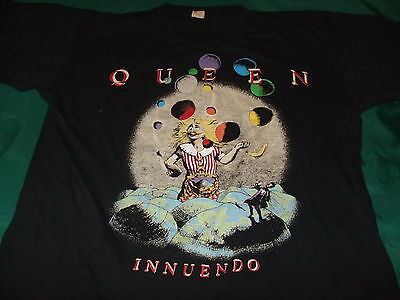 QUEEN 1991 vintage Innuendo t-shirt XL freddie mercury wembley tour magic circus