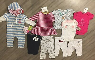 Brand New With Tags Baby 00 Clothes Bulk Lot Mixed Girl BNWT