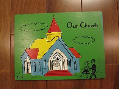 Vintage Sifo Wooden Puzzle-Our Church-Religious