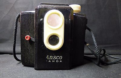 1950's Vintage Bakelite Ansco Panda Camera Point and Shoot     (J)