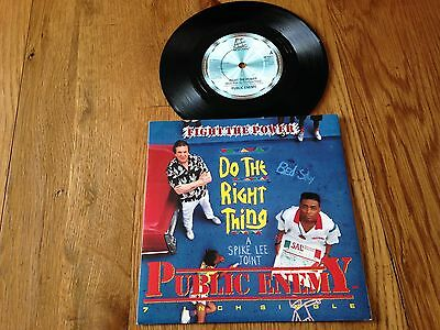 "Public Enemy Fight The Power Original UK 7"" Single Do The Right Thing Spike Lee"