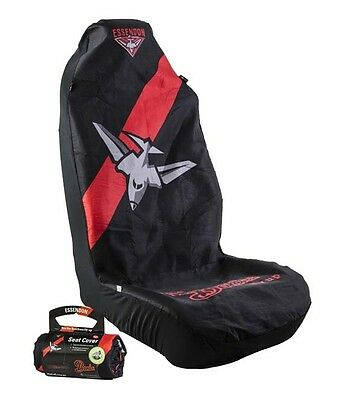 OFFICIAL  AFL CAR SEAT COVER x 2 - ESSENDON  FITS 2 BUCKETS SEATS