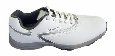 Maxfli Lady Lily Golf Shoes - Ladies Size 9.5 Uk - White - New In Box!