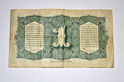 1943 Dutch East Indies 1 Guilder / Rupiah banknote to combat JIM invasion money