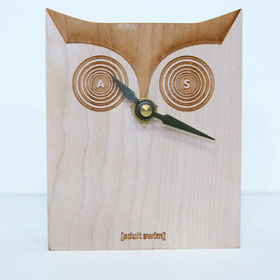 Adult Swim Wooden Owl Clock
