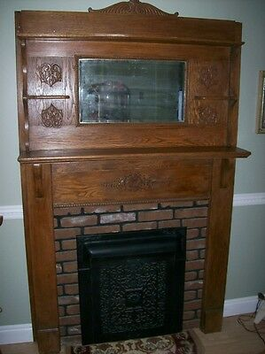 Oak Fireplace Surround  Architectural Salvage