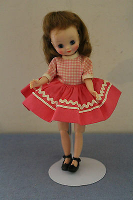 """#4 Vintage 8"""" American Character Betsy McCall Pink & White #8154 """"Recess"""" Dress"""