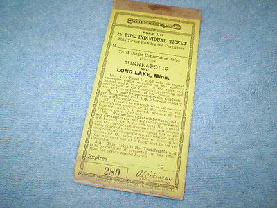 Great Northern Railway Co Agent Ticket Stubs Tickets Minneapolis and Long Lake