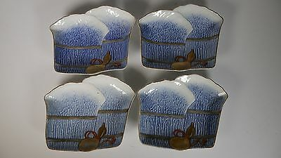 Japanese Imari gourd plates - late Meiji period - food dishes -  set of 4 flower