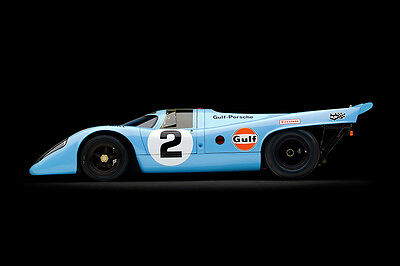 Porsche 917 K 1969 Vintage Porsche Racing Car  (Sv) Large Poster / Photography