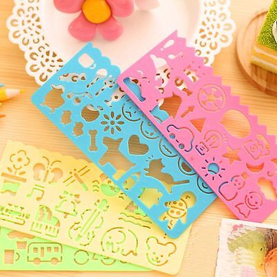4PCS Spirograph Toy Template Plastic Children Drawing Ruler Stencil