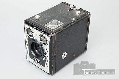 Eastman Kodak Brownie Six-20 Model E Box Film Vintage Camera w/ Flash Contacts 3