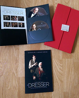 THE DRESSER Press Kit Book & DVDs - Anthony Hopkins Ian McKellen STARZ King Lear