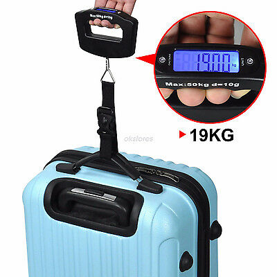 50kg Portable Hanging Electronic Digital Travel Suitcase Luggage Weigh Scales WL
