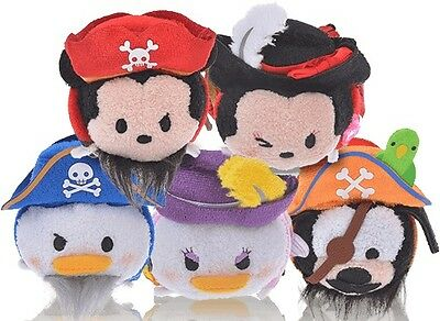 Pre-Order Disney Store JAPAN TSU TSUM 2017 Pirates Of The Caribbean Each Sell