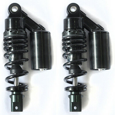 "New Black 1 Pair 9.25"" 235mm Air Clevis Shock Absorbers For Motorcycle Scooters"