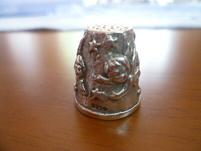 Sterling Silver Thimble-Angels- c1930