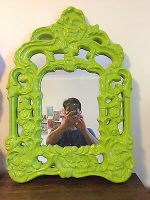 Green Antique Mirror