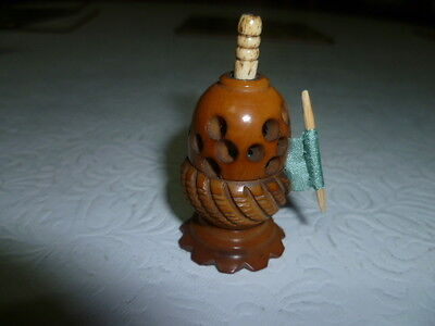 Unusual Tape Measure - From an Acorn - Vegetable Ivory