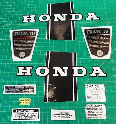 CT70 KO 10pc kit CT-70H 69,70,71 vintage frame decals, stickers, graphics