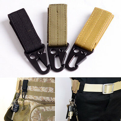 Molle Military Tactical Nylon Webbing Clip Belt Key Hook Buckle Strap Carabiner