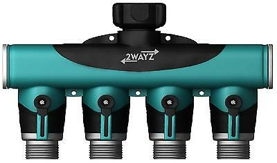 2wayz 4 Way Heavy Duty Hose Splitter. The Connector that Will Split, and...