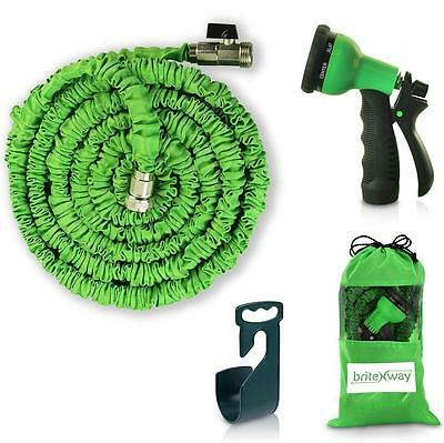 Expendable Garden Hose 50 Ft Retractable, Lightweight Flexible 8 Pattern...
