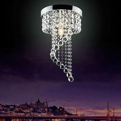 Modern LED Bulb Ceiling Light Pendant Fixture Lighting Crystal Chandelier
