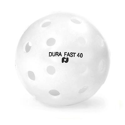 Dura Outdoor Pickleball Balls by Pickle Ball, Inc. Fast 40 White, 6 Pack