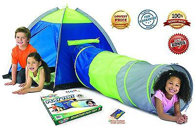 Adventure Play Tent with Tunnel and Bonus Flashlight by Toy Target for Kids...