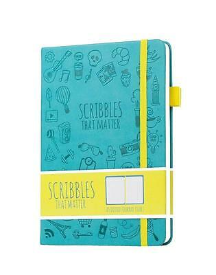 Scribbles That Matter Dotted Journal Notebook Diary A5 Elastic Band...
