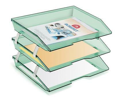 Acrimet Facility Triple Letter Tray Clear Green Color