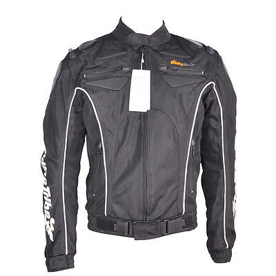 Men's Racing Jacket Black Motorcycle Bike Protector Gear Coat Size M
