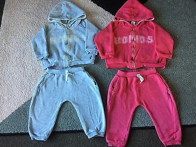 Bonds 2x unisex tracksuit sets sz 1, red and grey
