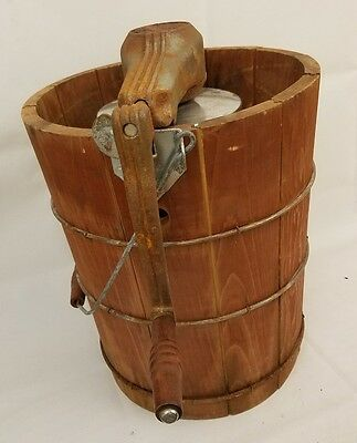 Vintage White Mountain Hand Crank Old Ice Cream Maker Freezer