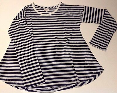Seed girls long sleeve top Size 7-8 Navy/white stripe