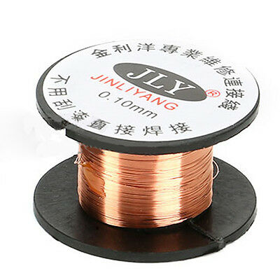 1Roll AWG Gauge 11.5m Enameled Copper Coil Winding 0.1MM Magnet Wire