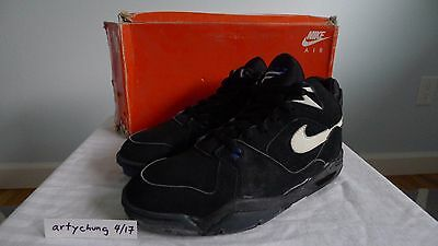 half off f6435 b3e13 Nice Original VNDS 1991 Nike Air Bound Flight Black White Royal Blue sz  10.5 OG