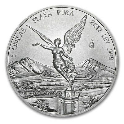 MEXIQUE  Argent 5 Once Libertad 2017 - 5 Oz silver coin