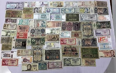 World Banknote collection. 60 Mixed. Many Old.All my collections Different #42