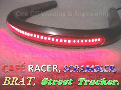 Cafe Racer Street Tracker Scrambler Frame Loop / Hoop Tube with LED Brake Light