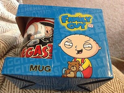 Family Guy Mug - WHAT HAPPENS IN VEGAS Stewie Griffin Peter Brian New Style Bnib