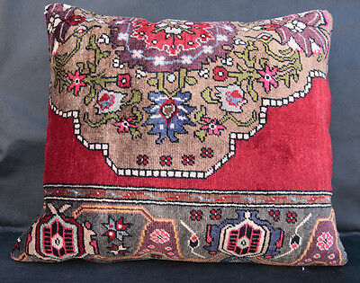Brillant color carpet pillow,vintage rug pillow,pillow cover,Throw rug pillow