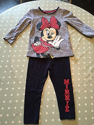 Girls Minnie Mouse Outfit 2-3 Years