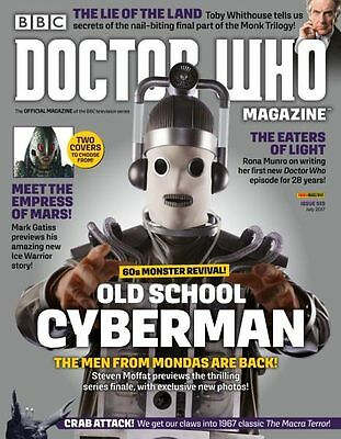 Doctor Who Magazine July 2017 (Issue 513) Old School Cyberman Cover...new