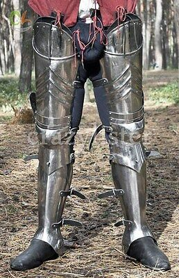 SCA advanced leg armor, complete gothic fluted cuisses, knees and greaves Gift