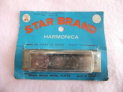 antique star brand harmonica instrument No.2410B