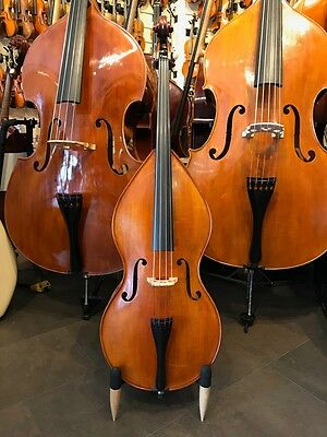 Reghino 1/16 Mini Birnenform Massivholz Kontrabass, Double Bass