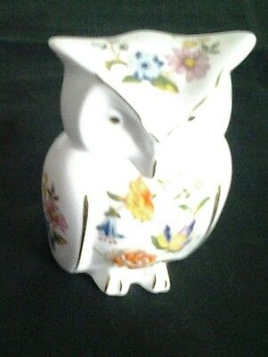 Aynsley  Cottage Garden Animal Figure Owl Trinket Box Very Good Condition.
