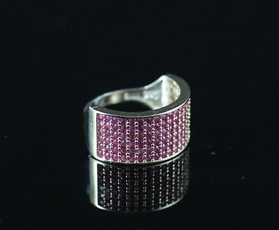 TURKISH HANDMADE RUBY STERLING SILVER 925K RING SIZE 6,7,8,9 and 10